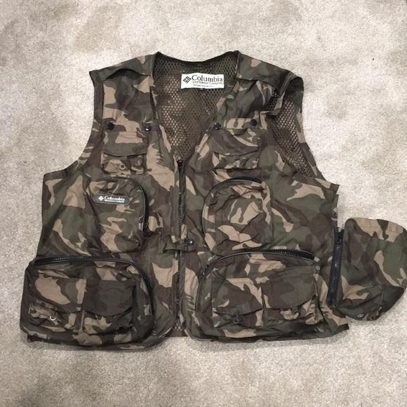 5d1505f1a1b59 Columbia Jackets & Coats   Like New Camo Fishing Vest   Poshmark